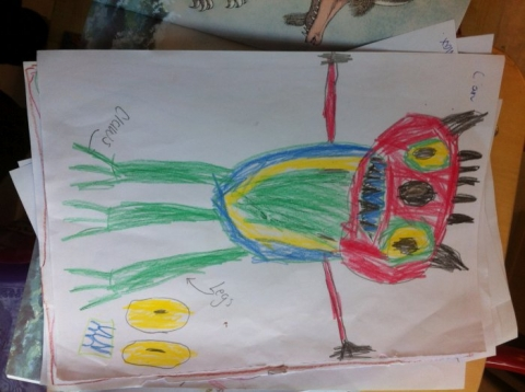 Monsters with Paula's class.