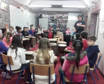 Drumming with Urs: Second and Sixth Class November 2015