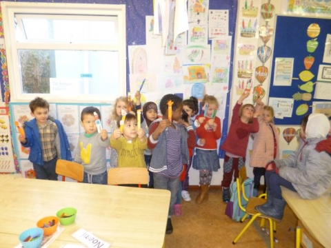 Bernie's Junior infants Busy at Work