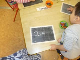 a Writing Station chalk