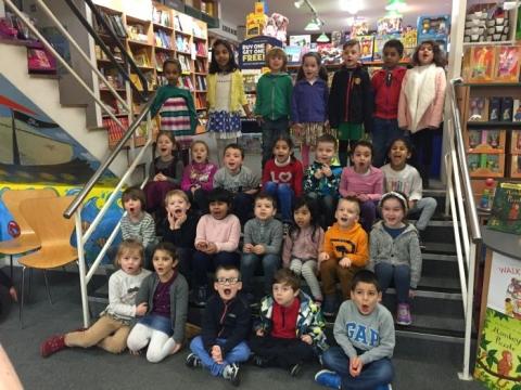 Junior infants visit O'Mahony's Bookstore