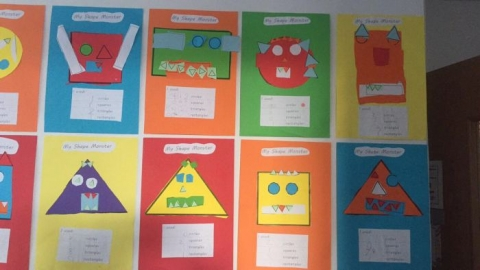 Senior  Infant Shape Monsters