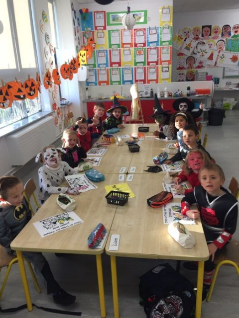 Senior Infants at Halloween